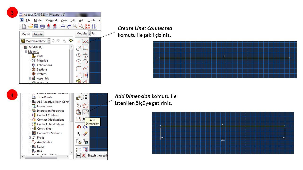 3 Create Line: Connected komutu ile şekli çiziniz.