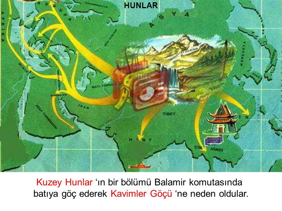 Kuzey Hunlar 'ın bir bölümü Balamir komutasında