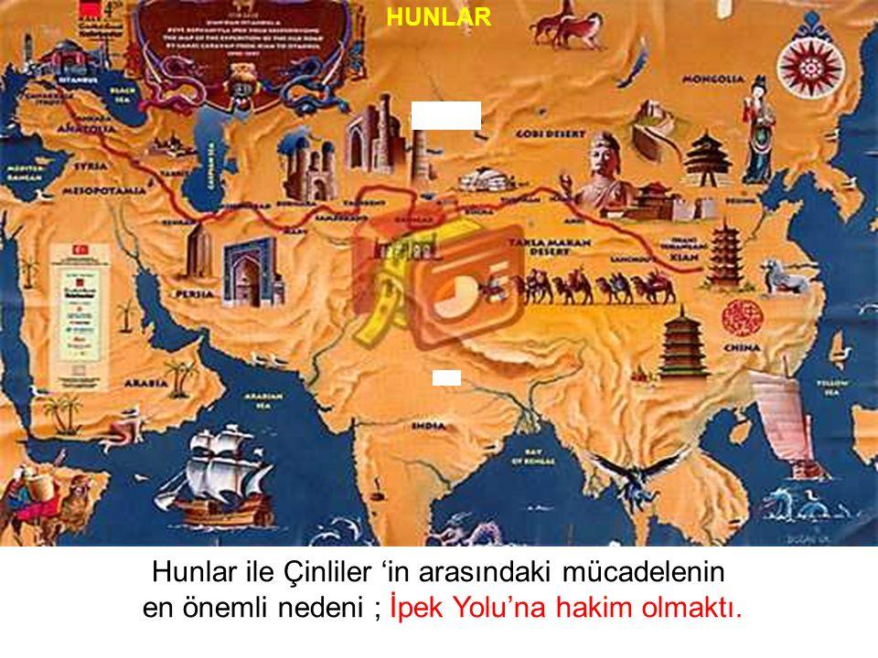 Hunlar ile Çinliler 'in arasındaki mücadelenin