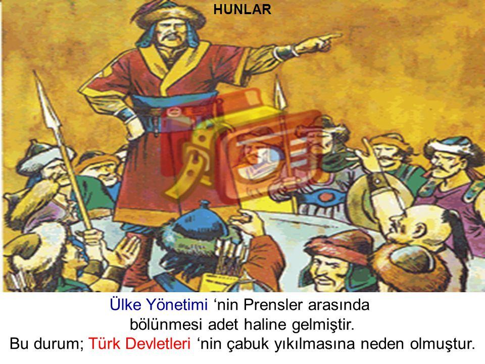 Ülke Yönetimi 'nin Prensler arasında bölünmesi adet haline gelmiştir.