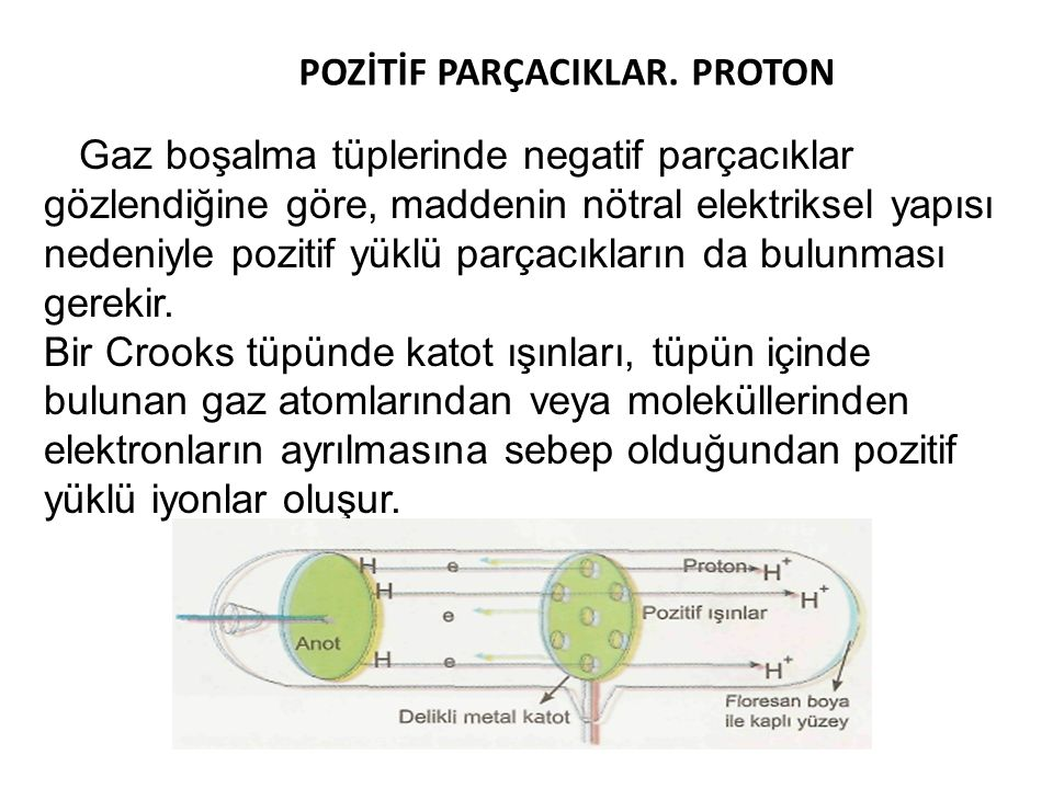 POZİTİF PARÇACIKLAR. PROTON