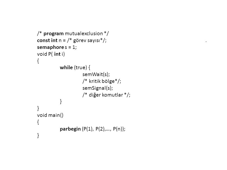 /* program mutualexclusion */