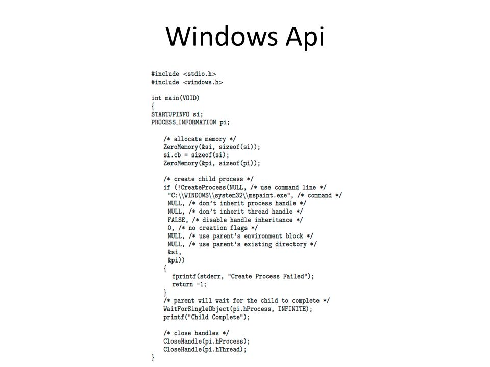 Windows Api