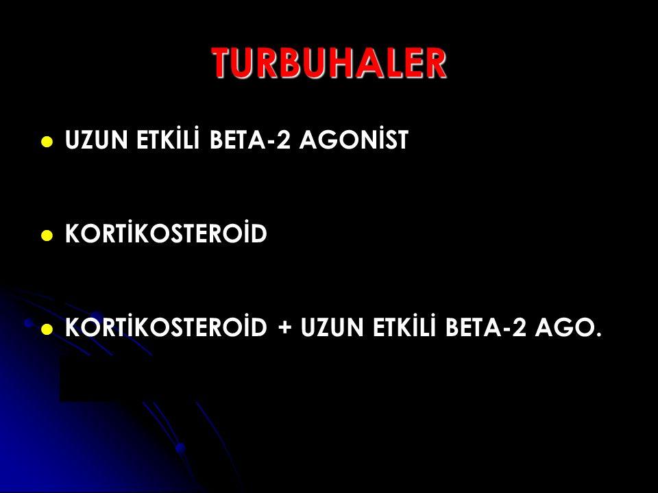 TURBUHALER UZUN ETKİLİ BETA-2 AGONİST KORTİKOSTEROİD