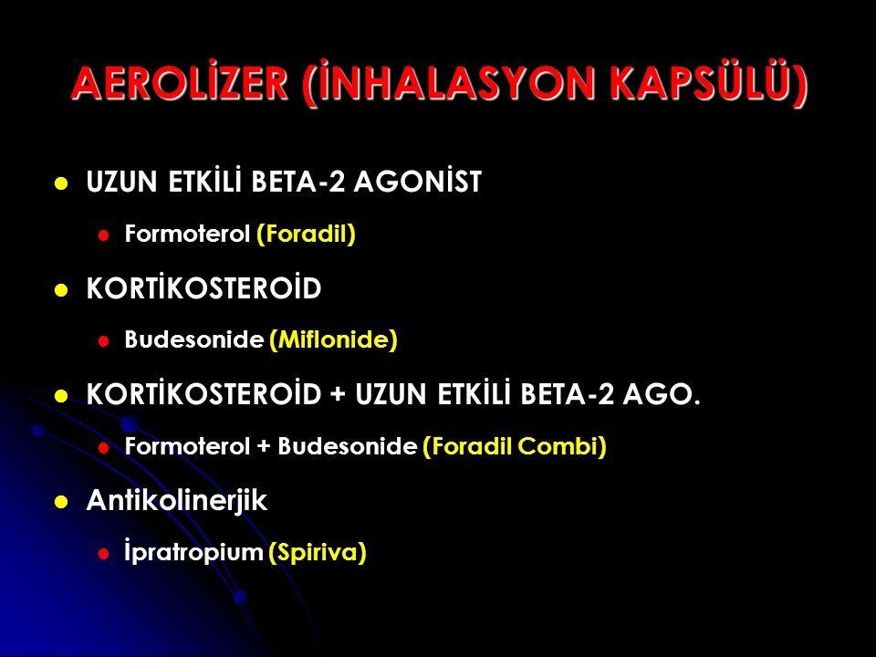 AEROLİZER (İNHALASYON KAPSÜLÜ)