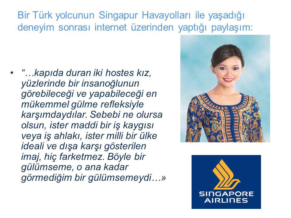 Bir Türk yolcunun Singapur Havayolları ile yaşadığı deneyim sonrası internet üzerinden yaptığı paylaşım: