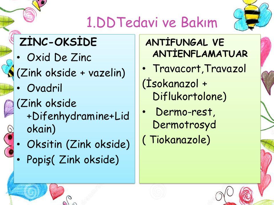1.DDTedavi ve Bakım ZİNC-OKSİDE Oxid De Zinc (Zink okside + vazelin)