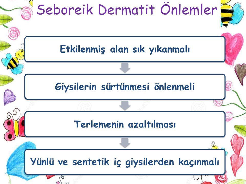 Seboreik Dermatit Önlemler