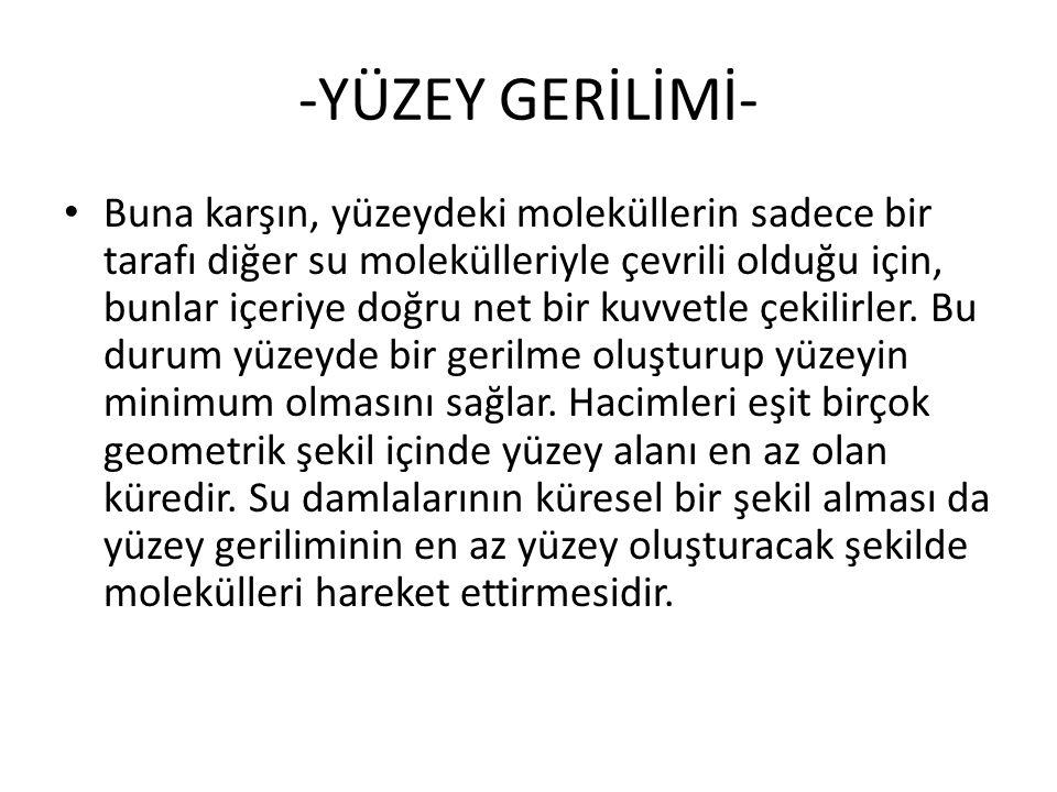 -YÜZEY GERİLİMİ-