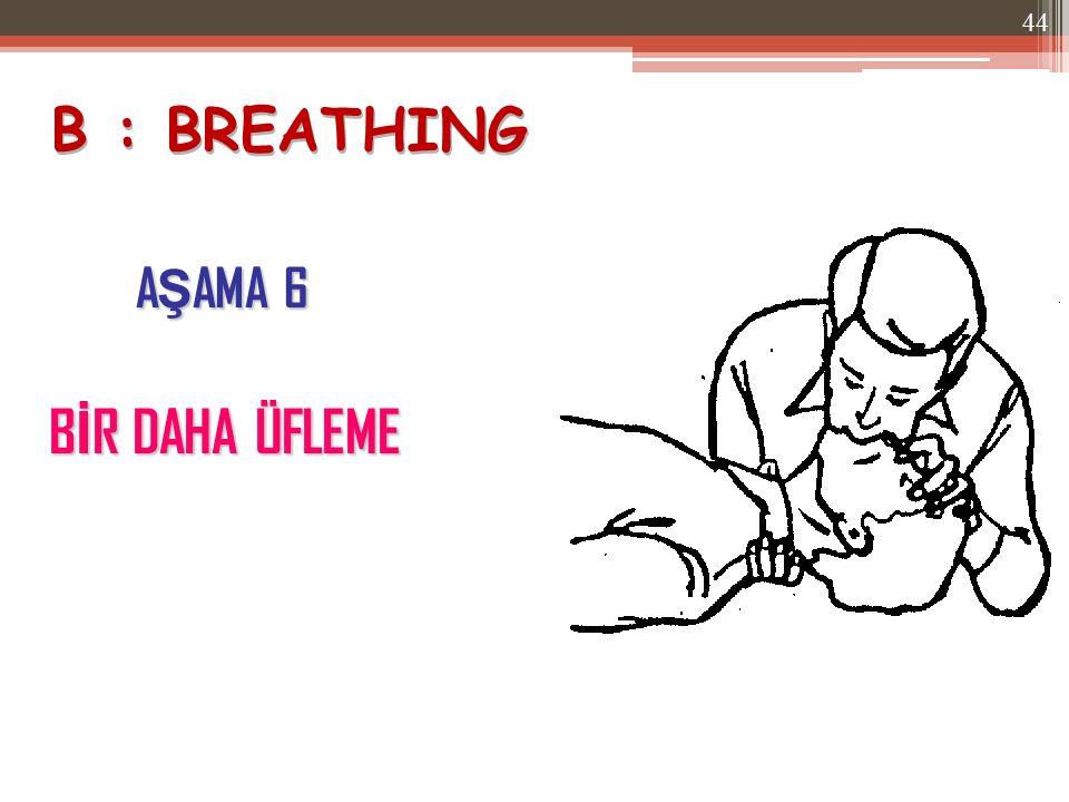 B : BREATHING AŞAMA 6 BİR DAHA ÜFLEME
