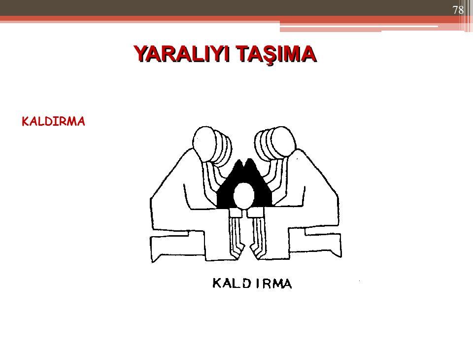 YARALIYI TAŞIMA KALDIRMA