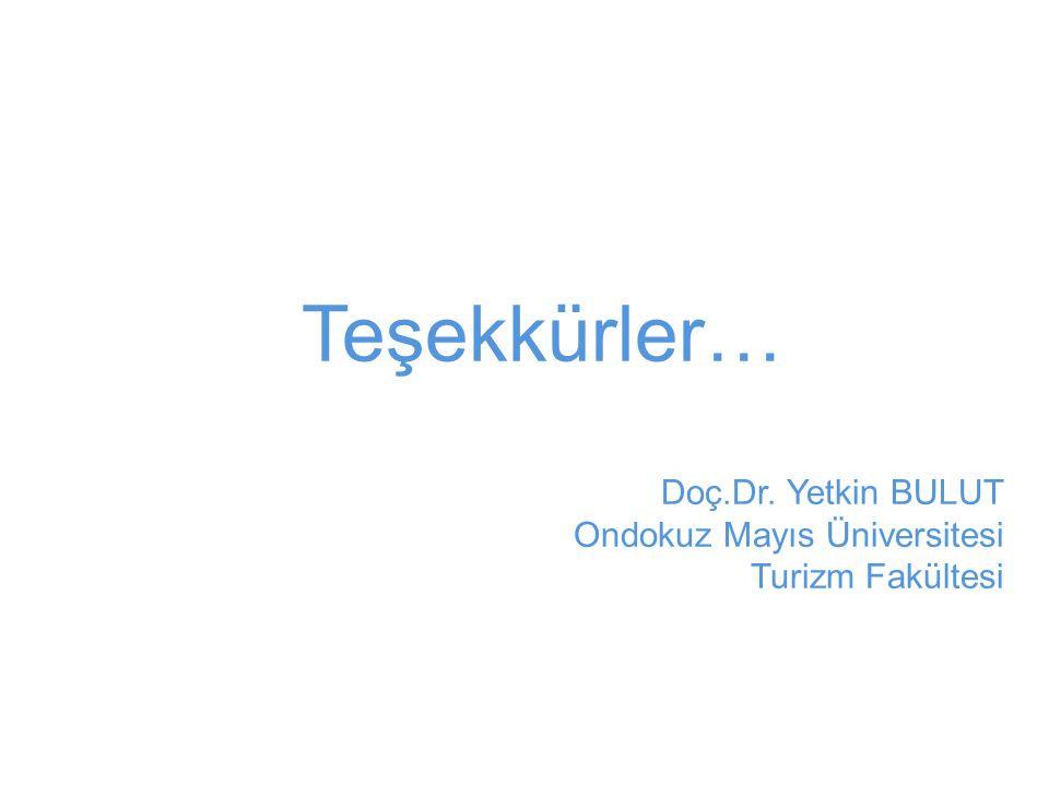 Teşekkürler… Doç.Dr. Yetkin BULUT Ondokuz Mayıs Üniversitesi
