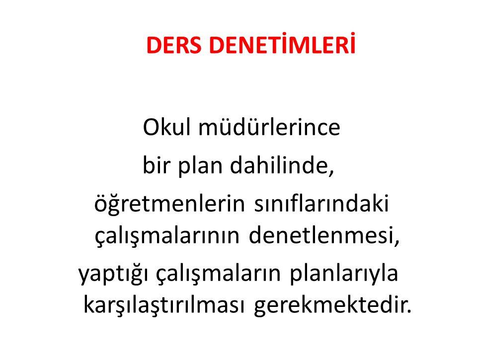 DERS DENETİMLERİ