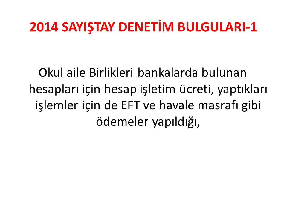 2014 SAYIŞTAY DENETİM BULGULARI-1