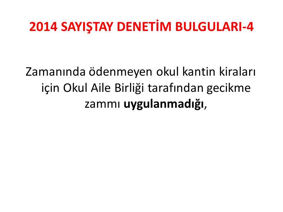 2014 SAYIŞTAY DENETİM BULGULARI-4