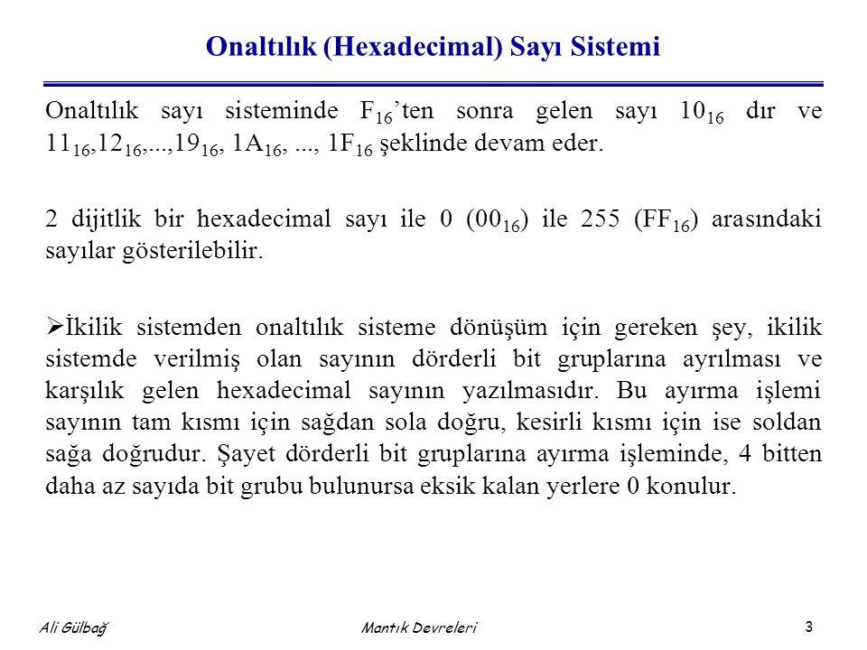 Onaltılık (Hexadecimal) Sayı Sistemi