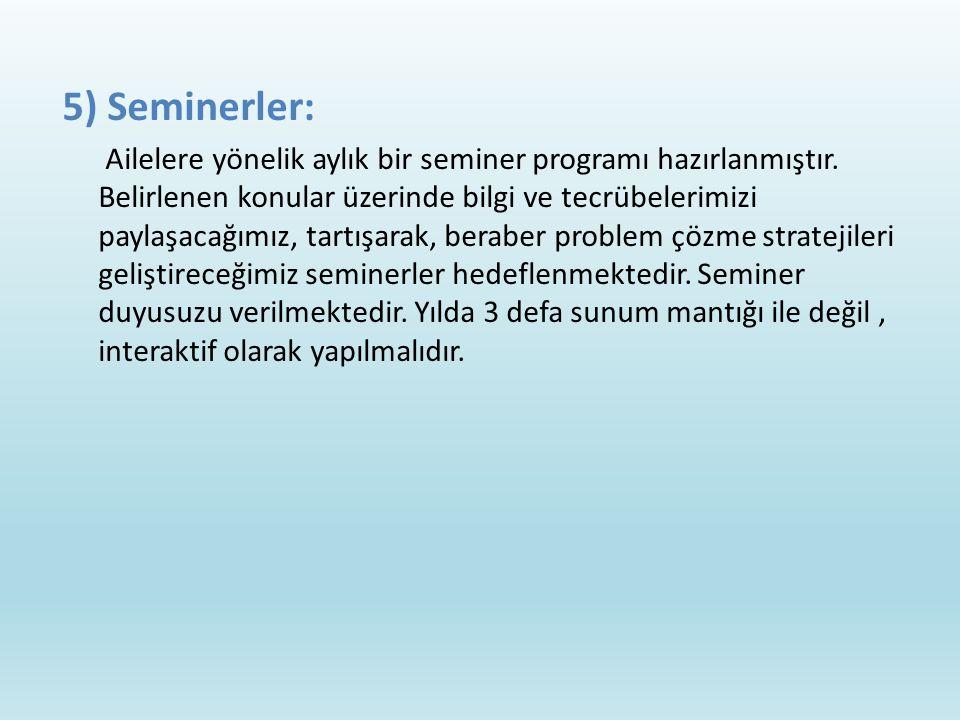 5) Seminerler: