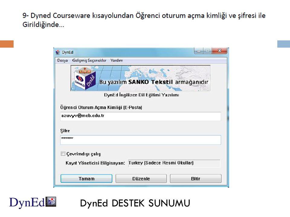 DynEd DESTEK SUNUMU