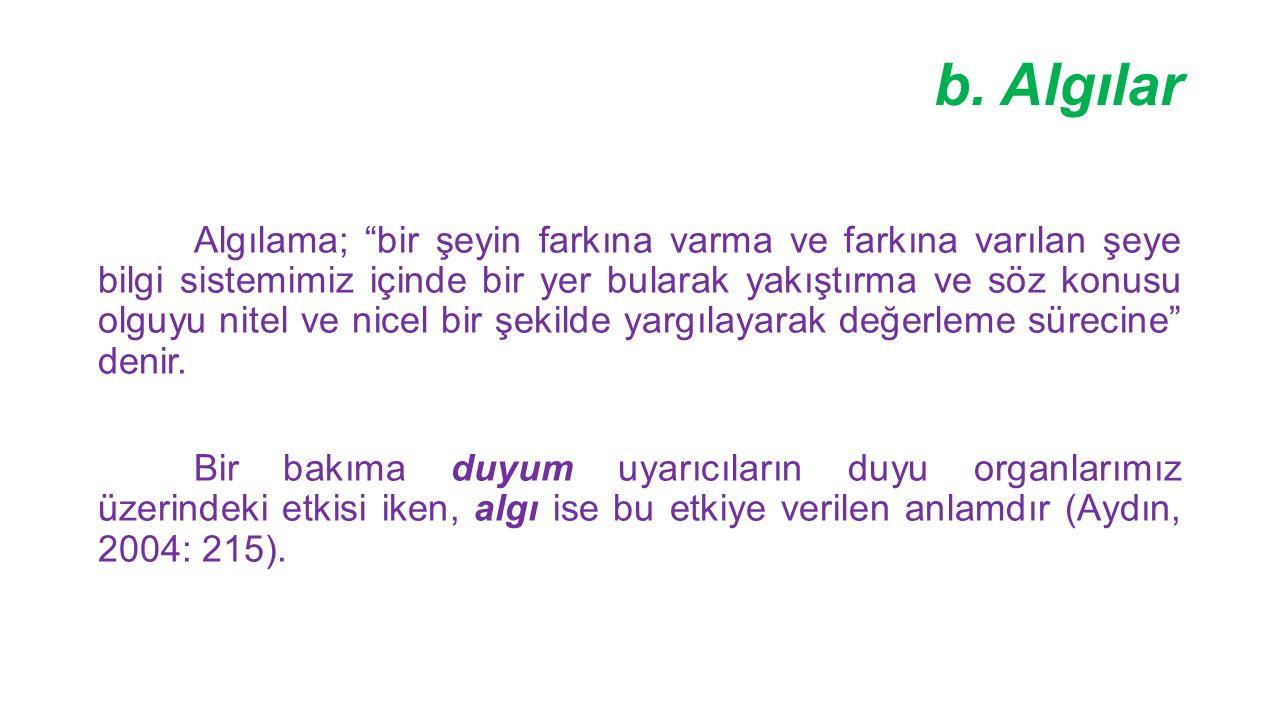 b. Algılar