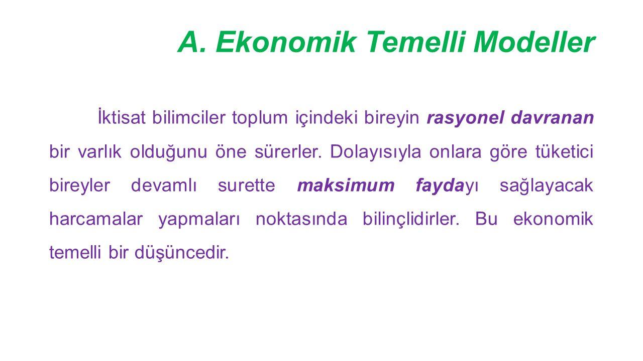 A. Ekonomik Temelli Modeller