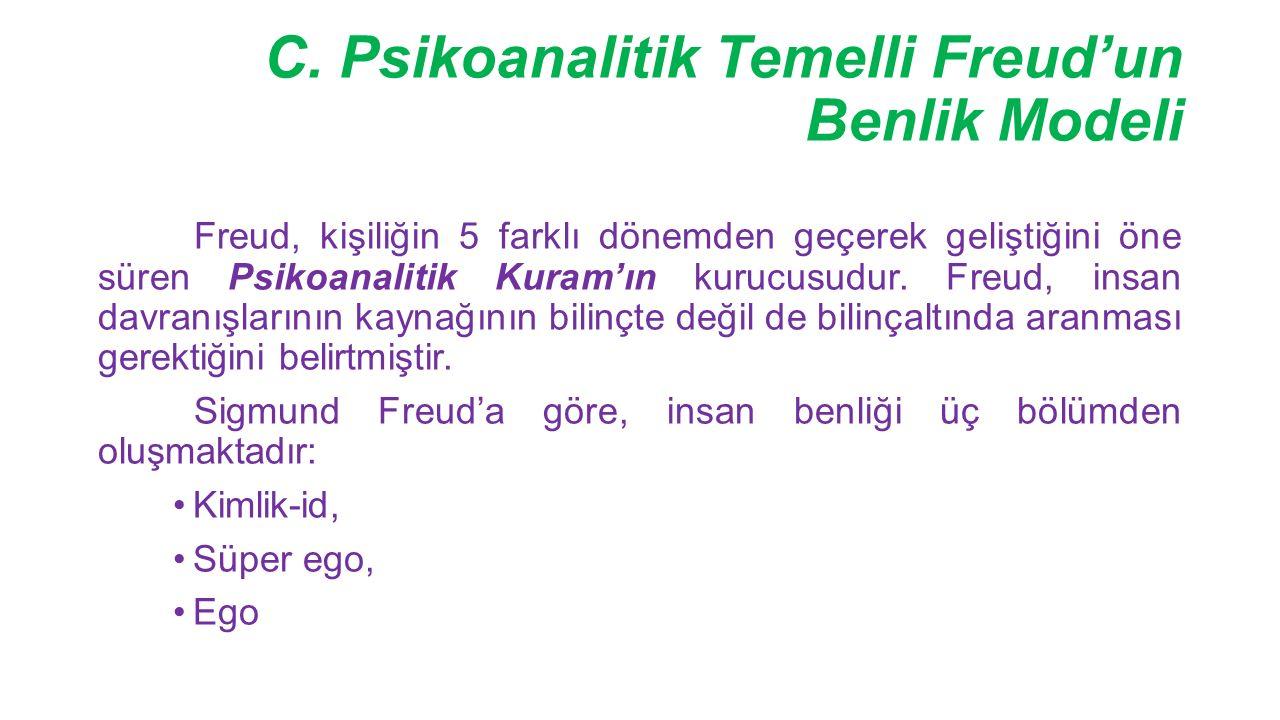 C. Psikoanalitik Temelli Freud'un Benlik Modeli