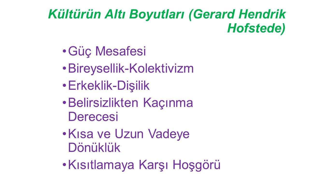 Kültürün Altı Boyutları (Gerard Hendrik Hofstede)