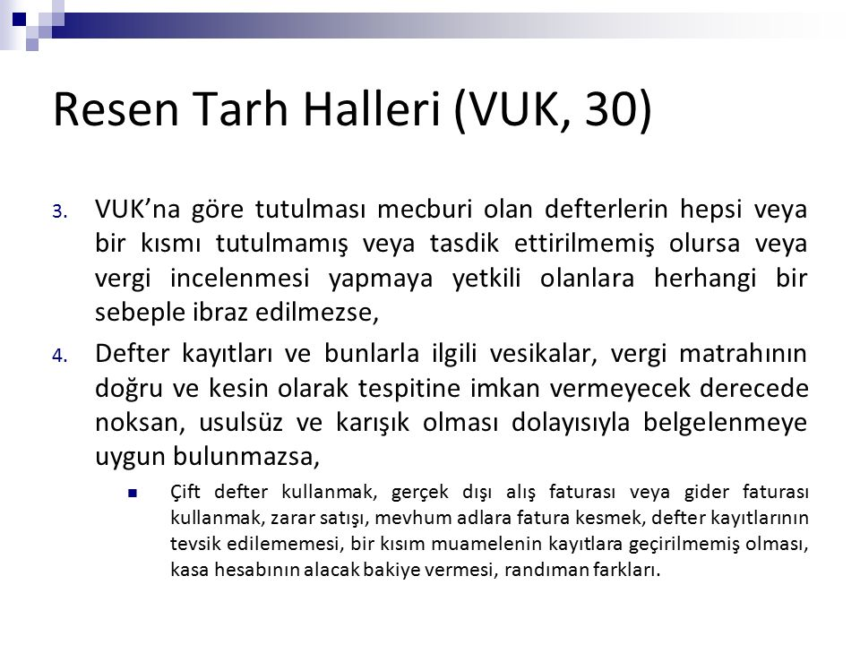 Resen Tarh Halleri (VUK, 30)