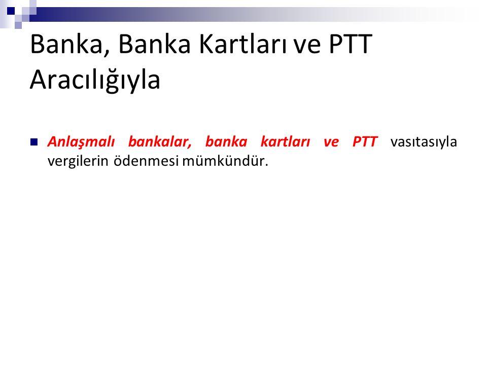 Banka, Banka Kartları ve PTT Aracılığıyla