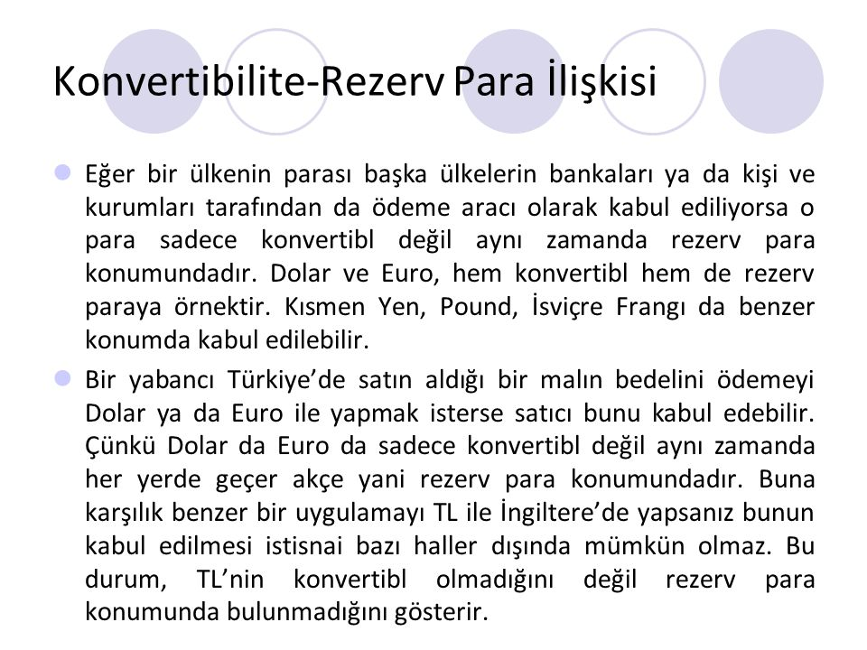 Konvertibilite-Rezerv Para İlişkisi