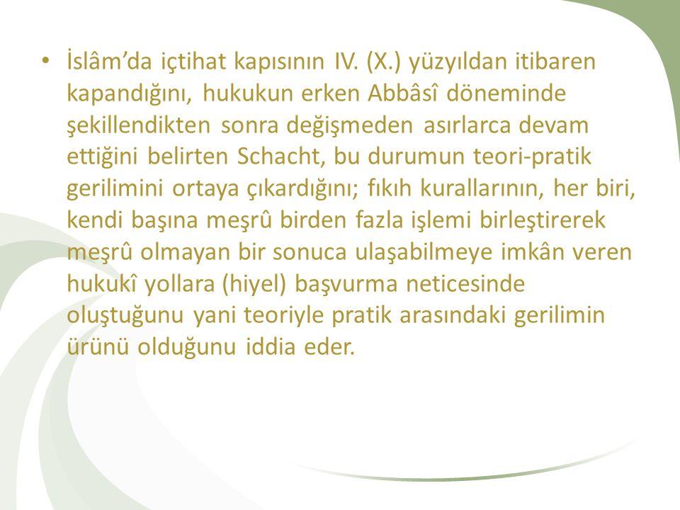 İslâm'da içtihat kapısının IV. (X