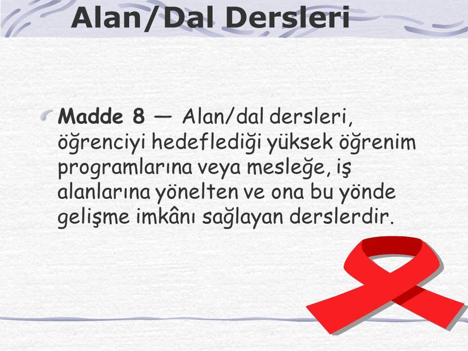 Alan/Dal Dersleri