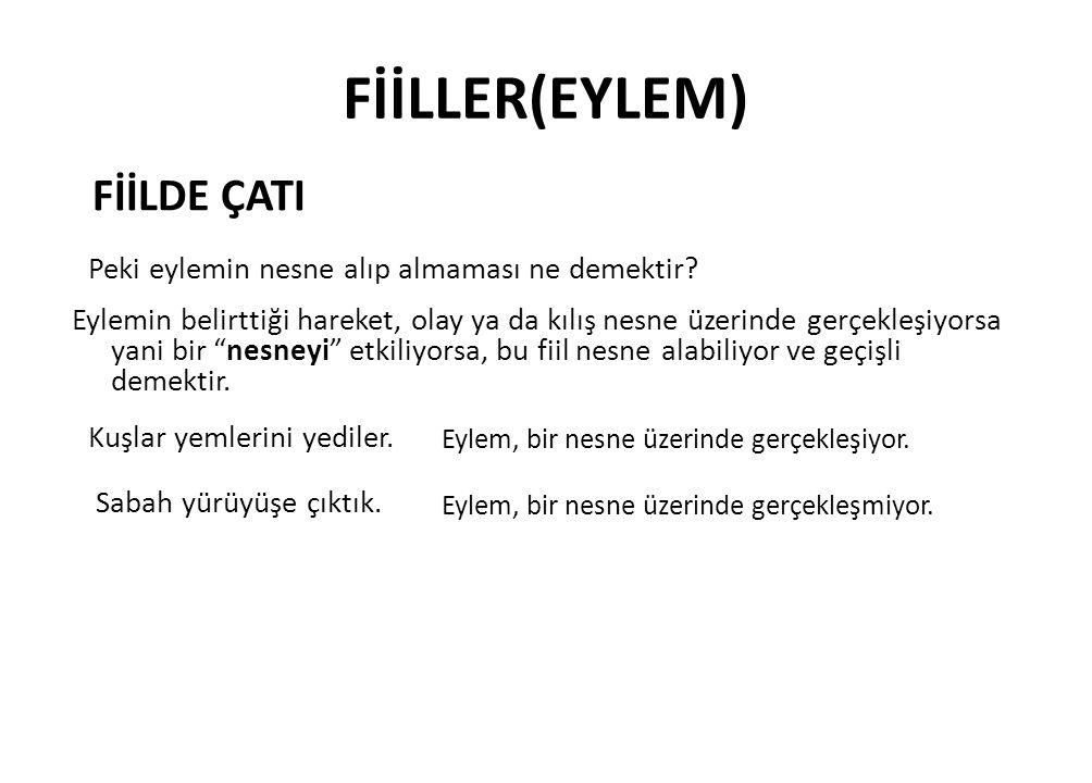 FİİLLER(EYLEM) FİİLDE ÇATI
