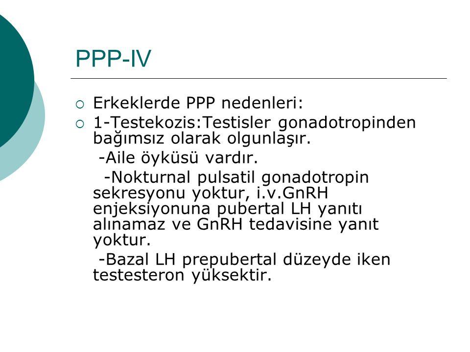 PPP-IV Erkeklerde PPP nedenleri: