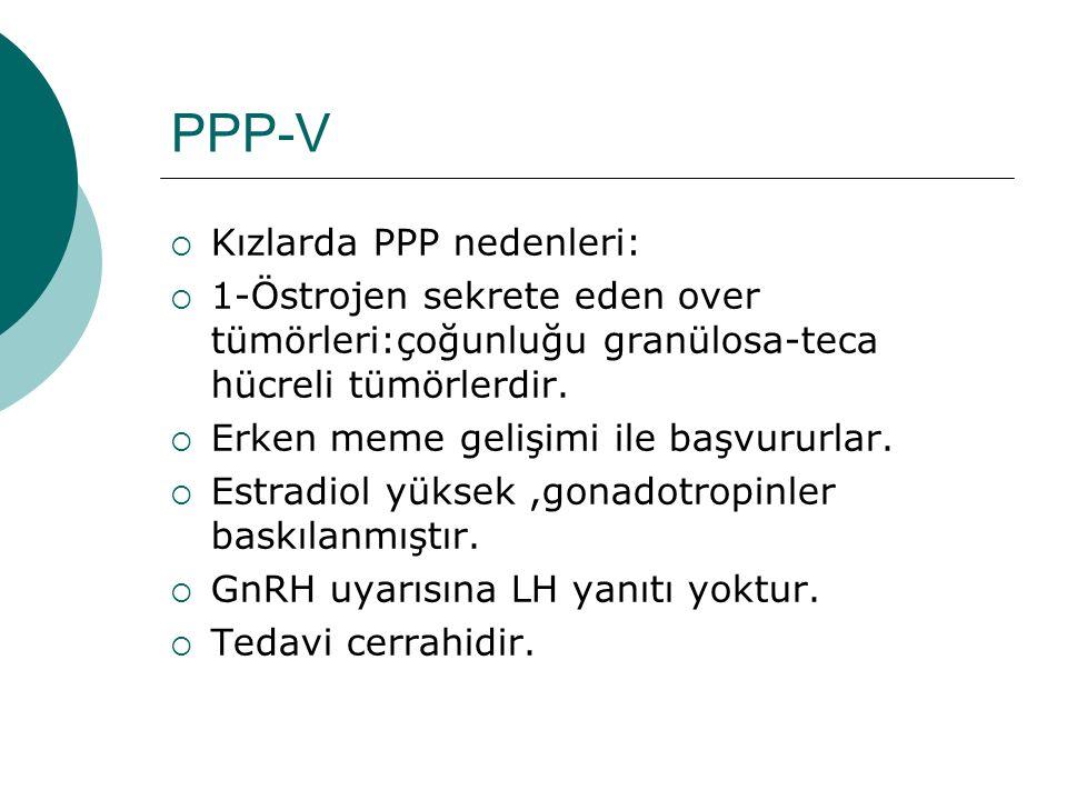 PPP-V Kızlarda PPP nedenleri: