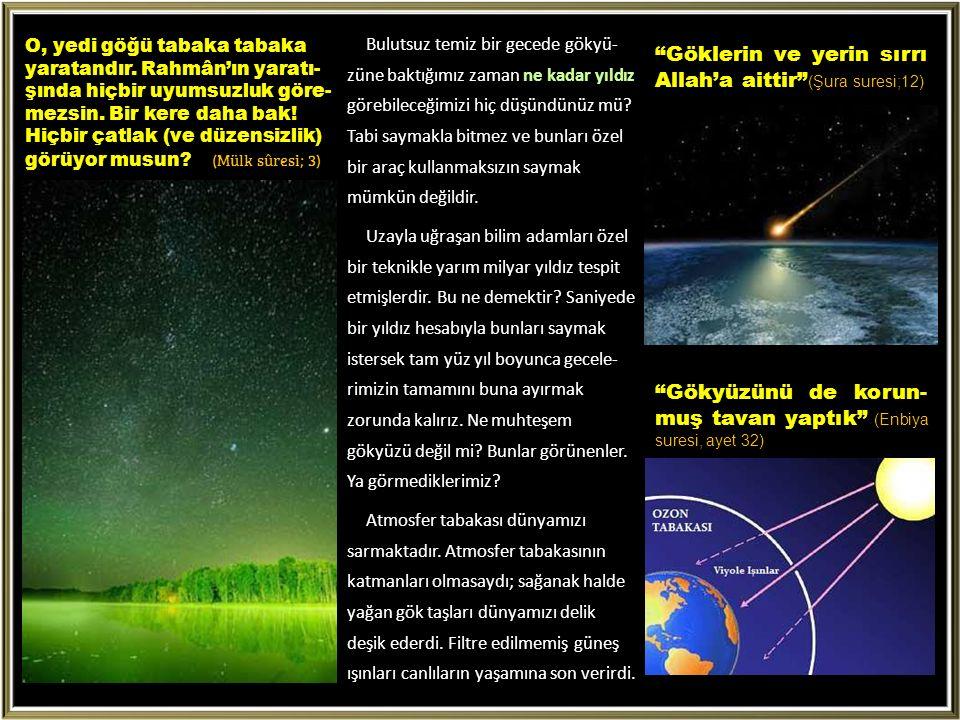 Göklerin ve yerin sırrı Allah'a aittir (Şura suresi;12)