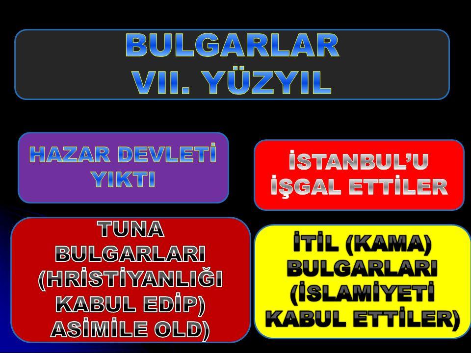 BULGARLAR VII. YÜZYIL HAZAR DEVLETİ YIKTI İSTANBUL'U İŞGAL ETTİLER