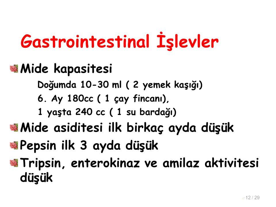 Gastrointestinal İşlevler