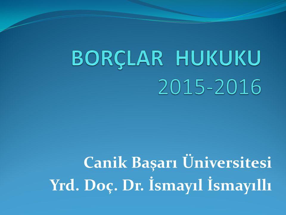 Canik Başarı Üniversitesi Yrd. Doç. Dr. İsmayıl İsmayıllı