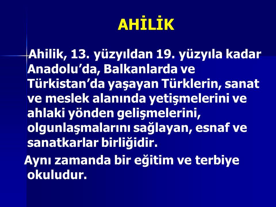 AHİLİK