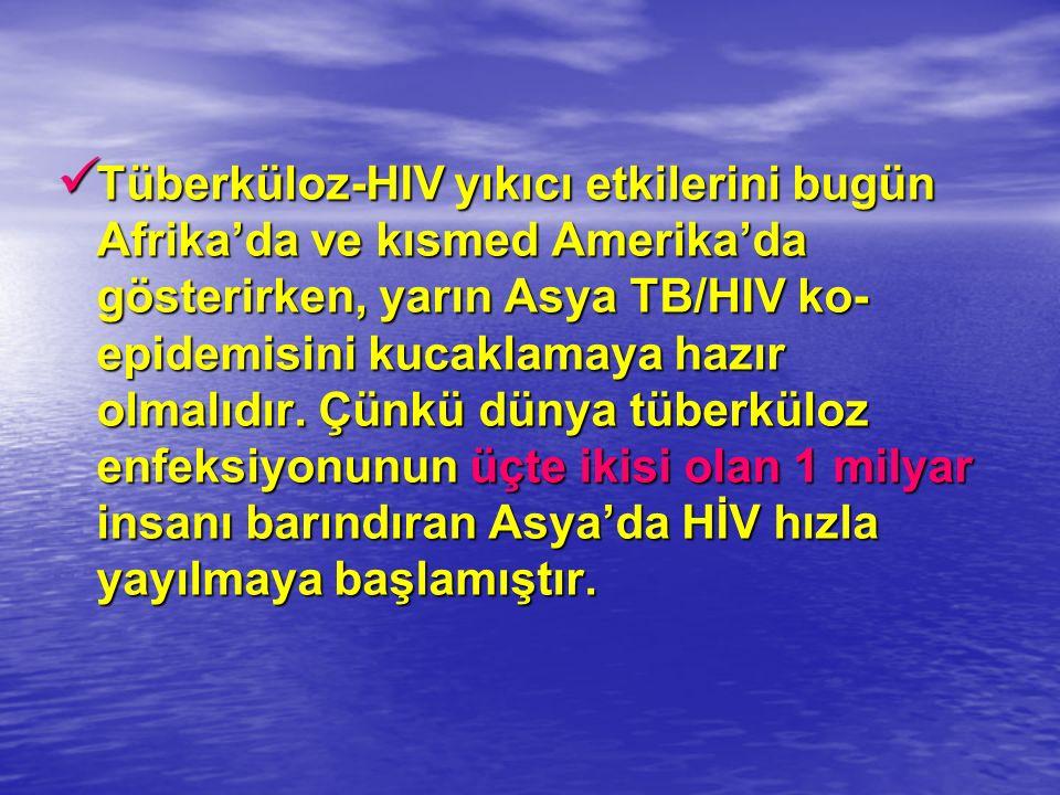 Tüberküloz-HIV yıkıcı etkilerini bugün Afrika'da ve kısmed Amerika'da gösterirken, yarın Asya TB/HIV ko-epidemisini kucaklamaya hazır olmalıdır.