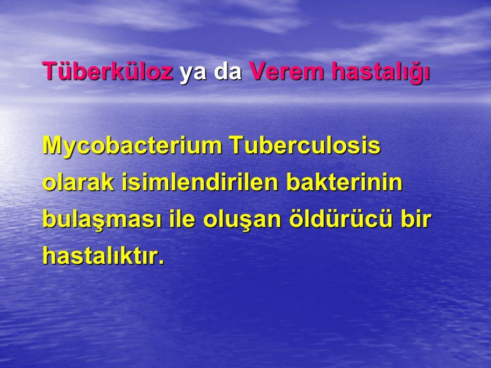 Tüberküloz ya da Verem hastalığı