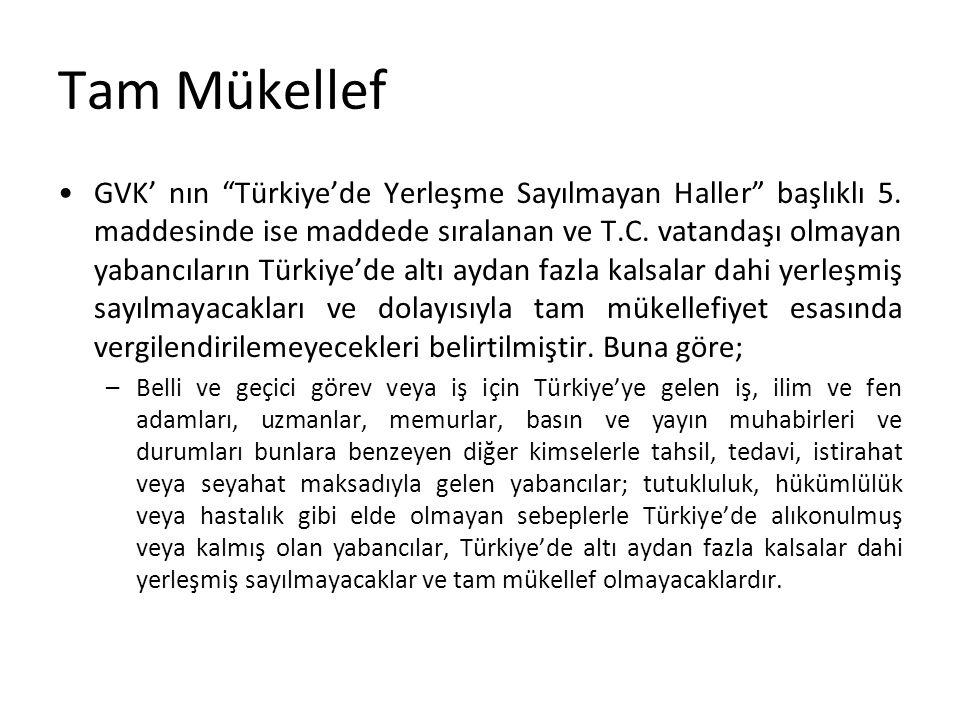 Tam Mükellef