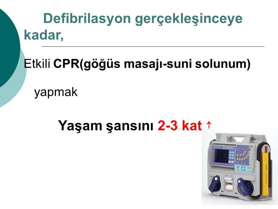 Defibrilasyon gerçekleşinceye kadar,
