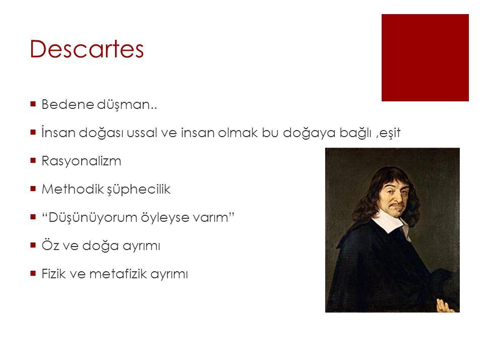 Descartes Bedene düşman..