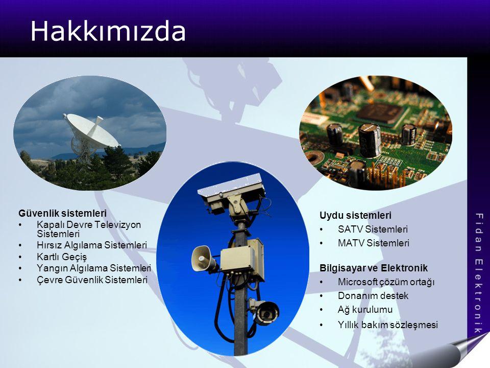 Hakkımızda Güvenlik sistemleri Kapalı Devre Televizyon Sistemleri