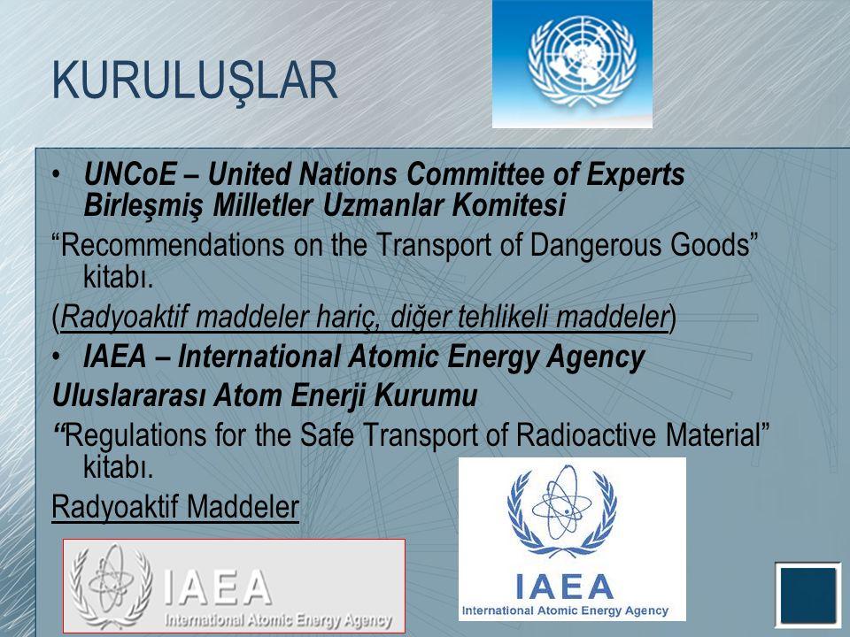 KURULUŞLAR UNCoE – United Nations Committee of Experts Birleşmiş Milletler Uzmanlar Komitesi.