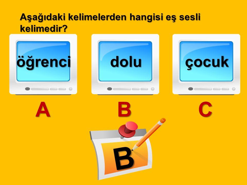 B A B C öğrenci dolu çocuk