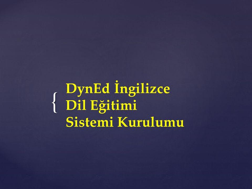 DynEd İngilizce Dil Eğitimi Sistemi Kurulumu