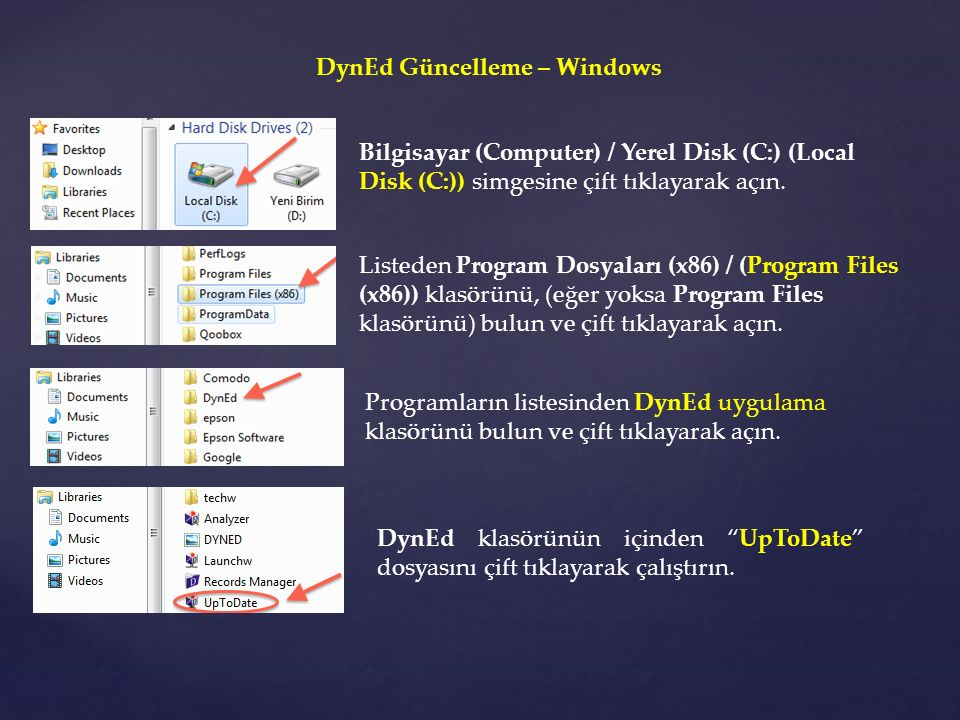 DynEd Güncelleme – Windows
