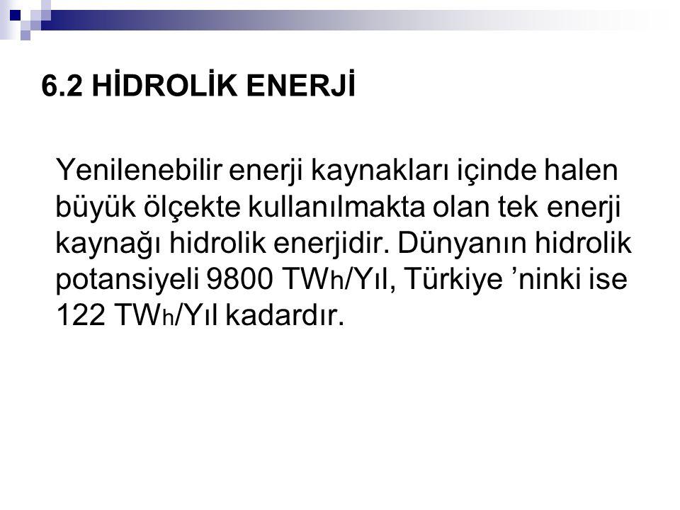 6.2 HİDROLİK ENERJİ